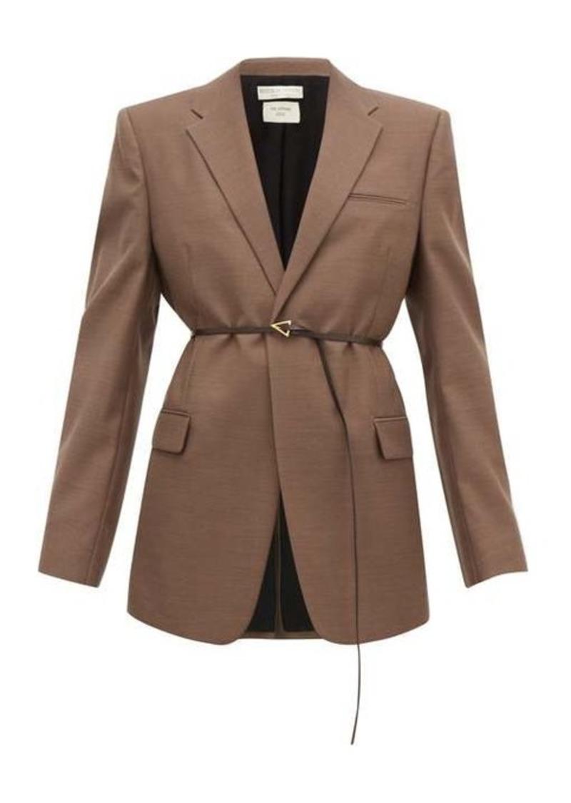 Bottega Veneta Belted single-breasted wool jacket