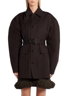 Bottega Veneta Belted Waterproof Stretch Cotton Coat