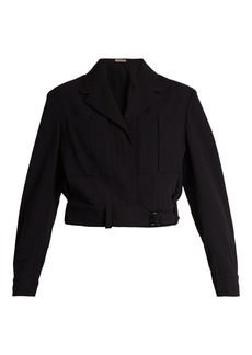 Bottega Veneta Belted wool cropped jacket