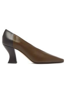 Bottega Veneta Bi-colour block-heel leather pumps