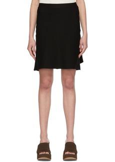 Bottega Veneta Black Knit Godet Skirt