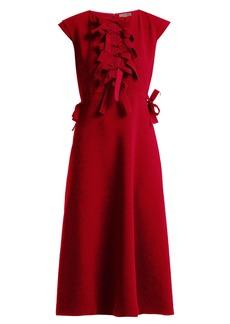Bottega Veneta Bow-trimmed shift dress