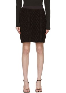 Bottega Veneta Brown Knit Wool Skirt