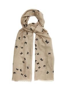 Bottega Veneta Butterfly-print wool scarf