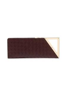 Bottega Veneta BV Rim Intreciatto-leather clutch