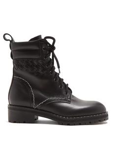 Bottega Veneta Chain-embellished leather ankle boots