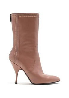 Bottega Veneta Chain-embellished leather boots