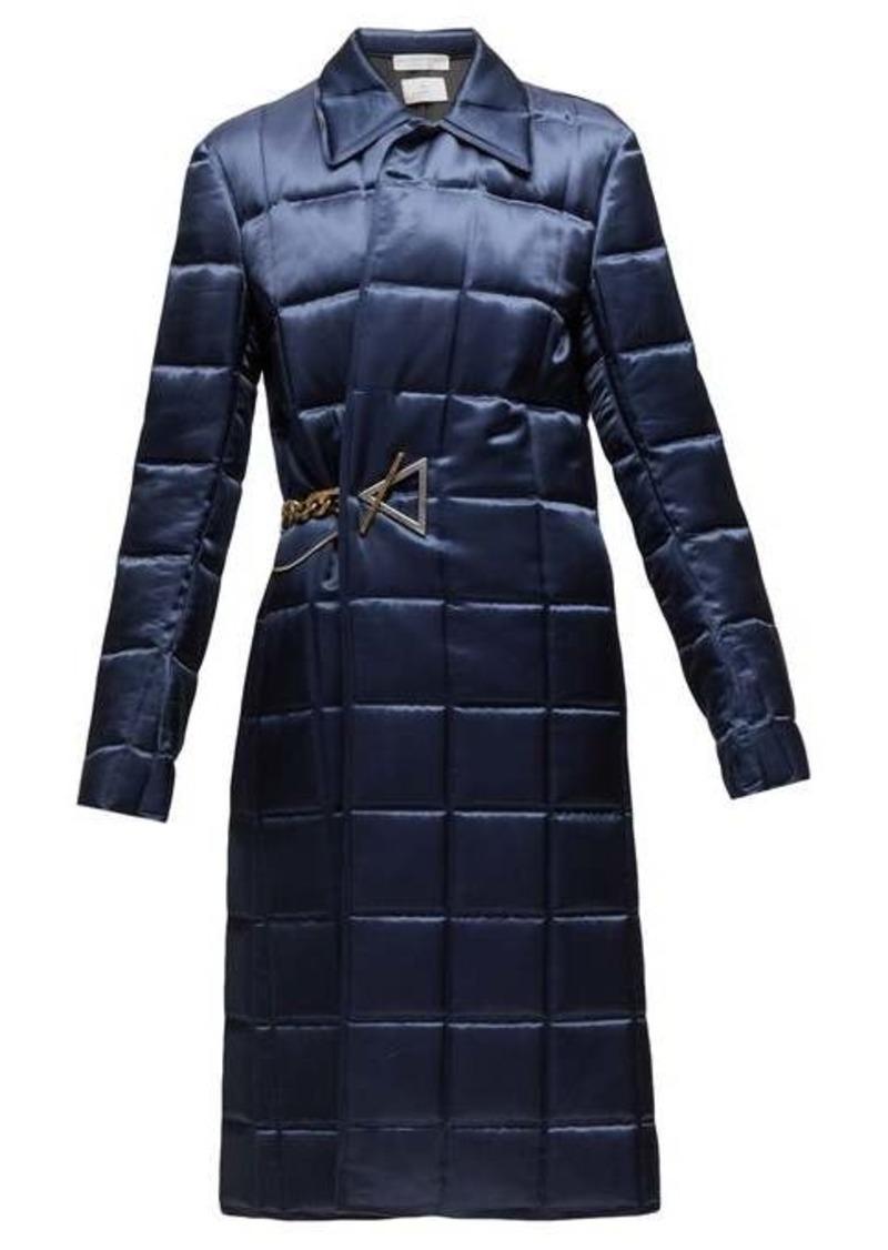 Bottega Veneta Chain-embellished quilted-satin coat