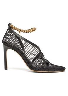 Bottega Veneta Anklet-embellished mesh pumps