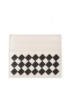 Bottega Veneta Checkered Intrecciato Leather Card Case