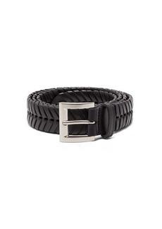Bottega Veneta Chevron-whipstitched leather belt