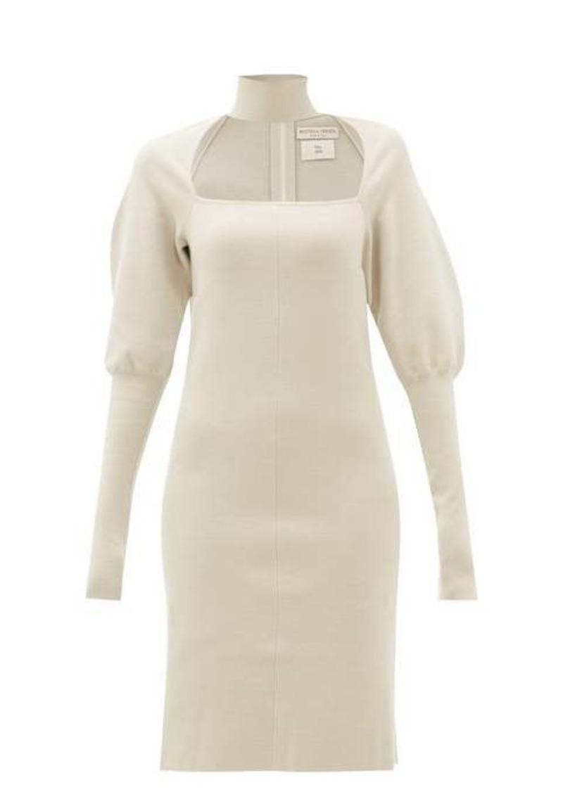 Bottega Veneta Choker gigot-sleeve wool-blend dress