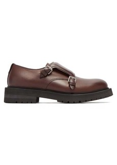 Bottega Veneta Chunky-sole monk-strap leather shoes
