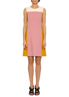 Bottega Veneta Colorblock Wool Shirt Dress