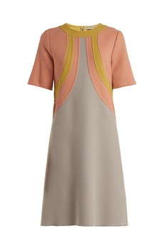 Bottega Veneta Colour-block wool dress