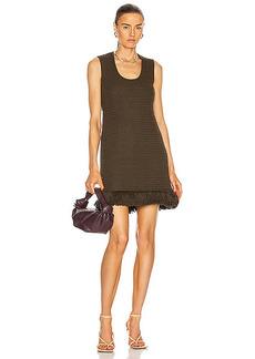Bottega Veneta Compact Pom Pom Cotton Mesh Dress