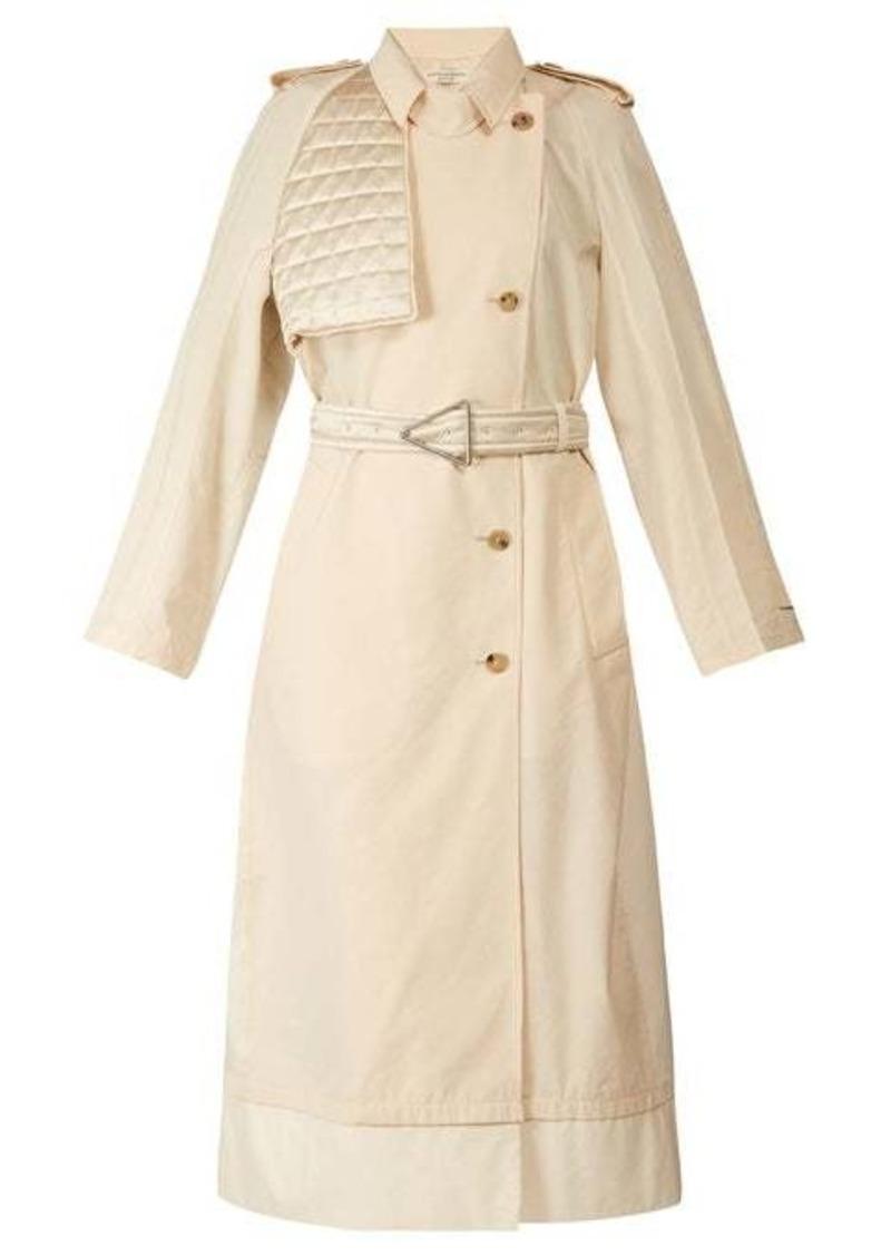 Bottega Veneta Contrast-panel belted trench coat