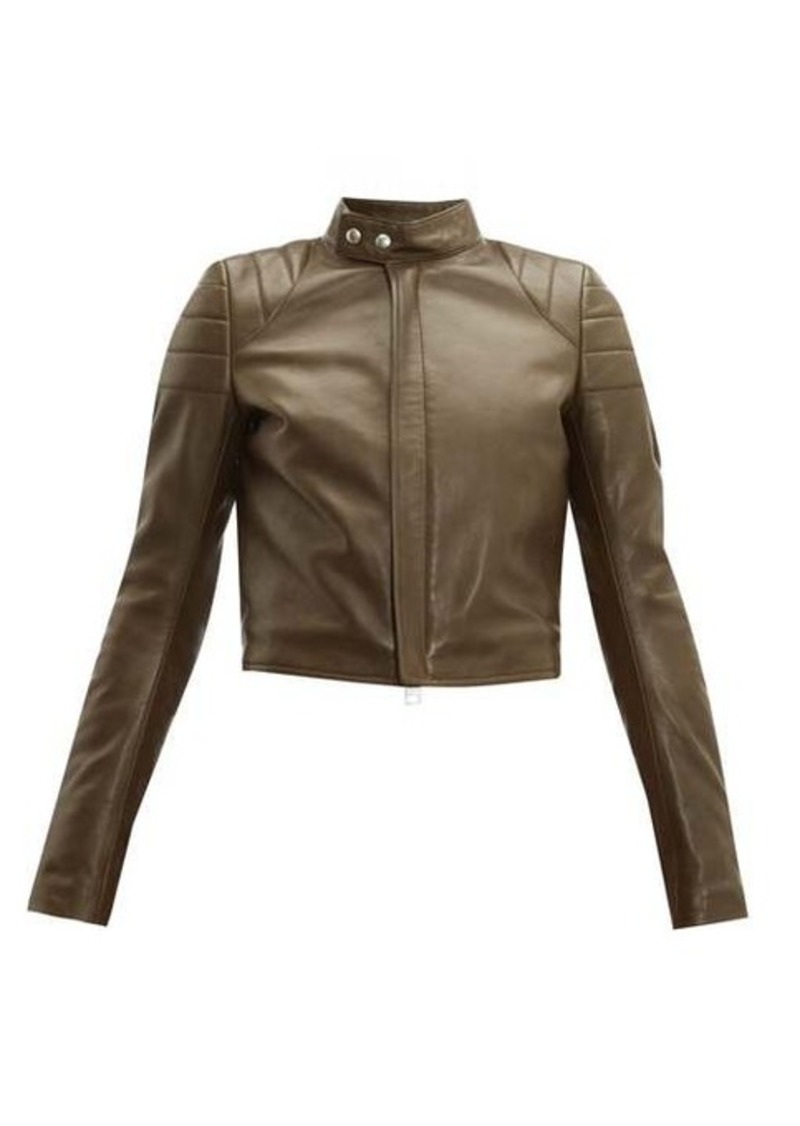 Bottega Veneta Cropped leather biker jacket
