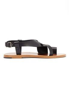 Bottega Veneta Cross-strap leather sandals