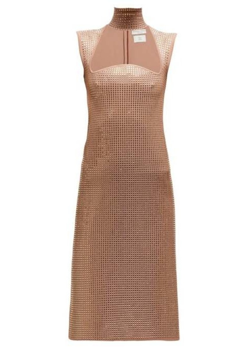 Bottega Veneta Crystal-embellished jacquard-knit midi dress