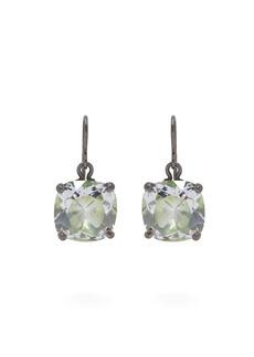 Bottega Veneta Cubic-zirconia drop sterling-silver earrings
