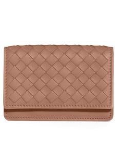Bottega Veneta Dahlia Intrecciato Leather Card Case