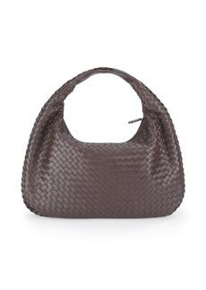 Bottega Veneta Dark Hobo Leather Handbag