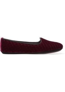 Bottega Veneta Embroidered velvet slippers