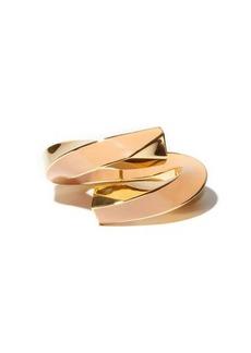 Bottega Veneta Enamel & 18kt gold-plated cuff