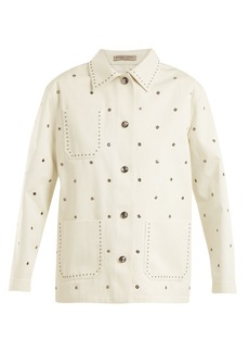 Bottega Veneta Eyelet-detail cotton-twill jacket