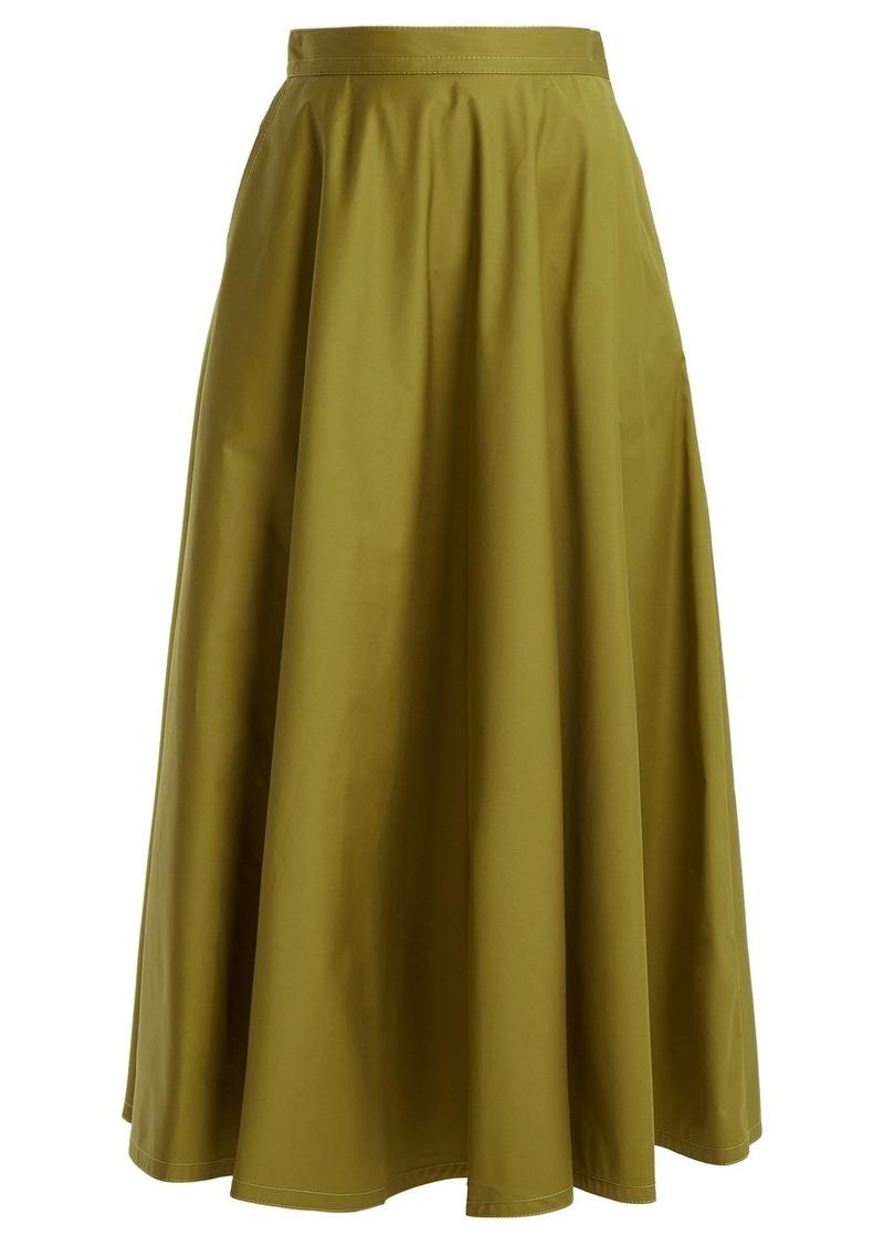 Bottega Veneta Flared cotton-blend skirt