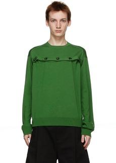 Bottega Veneta Green Button Vent Sweater