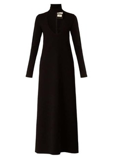 Bottega Veneta High-neck wool-blend maxi dress