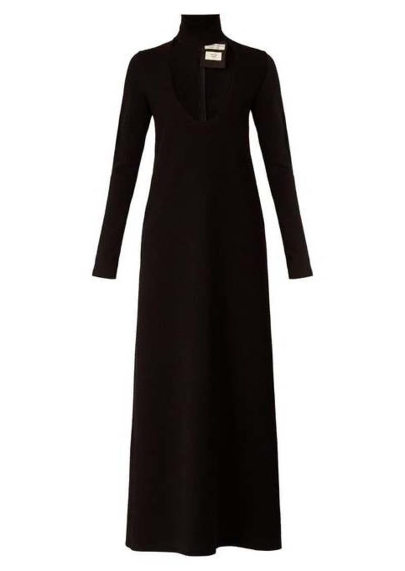 Bottega Veneta High-neck wool-blend maxi dress