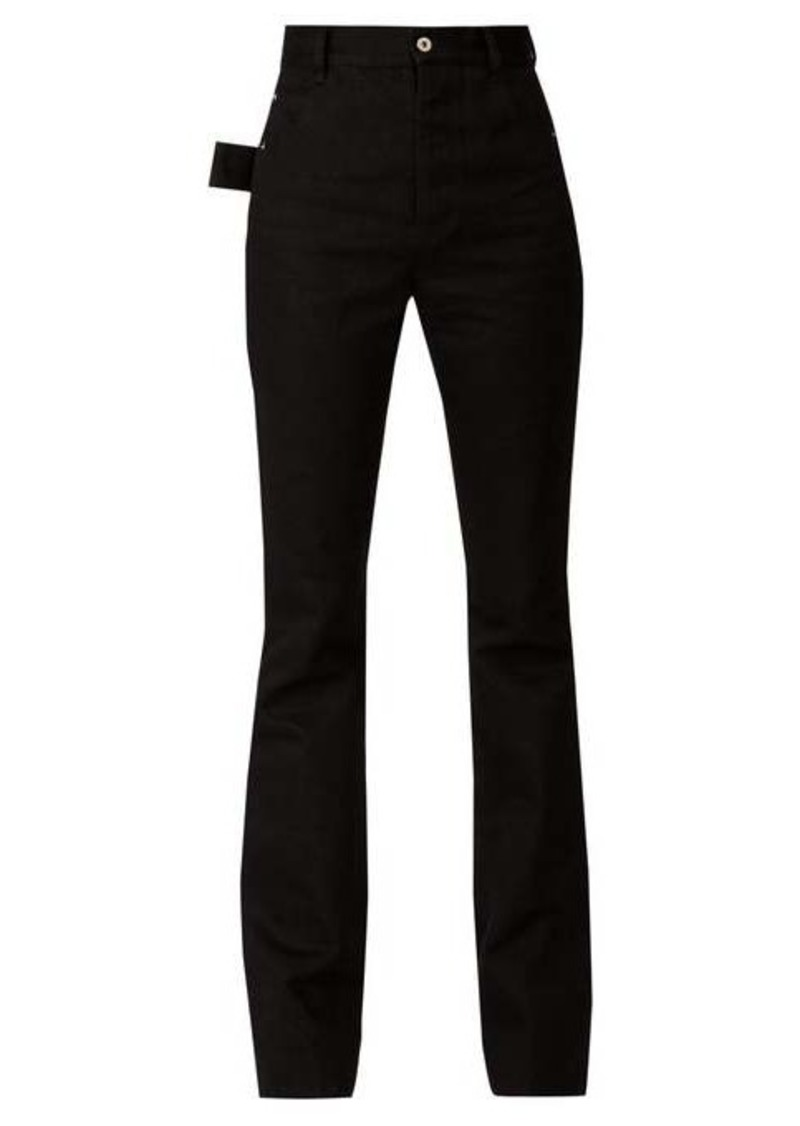 Bottega Veneta High-rise flared crepe trousers