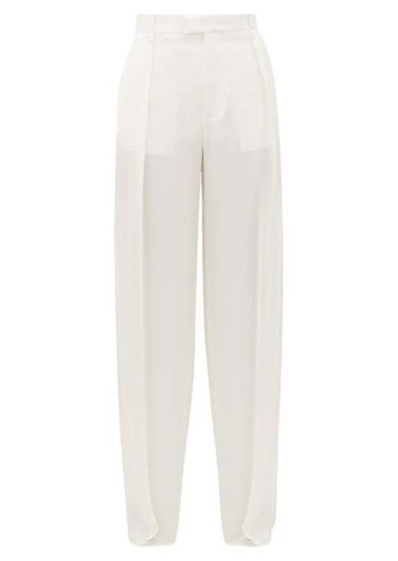 Bottega Veneta High-rise wide-leg silk trousers