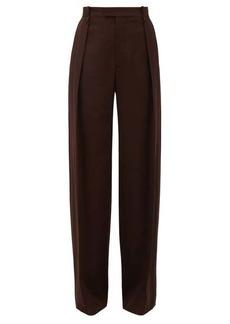 Bottega Veneta High-rise wide-leg wool trousers