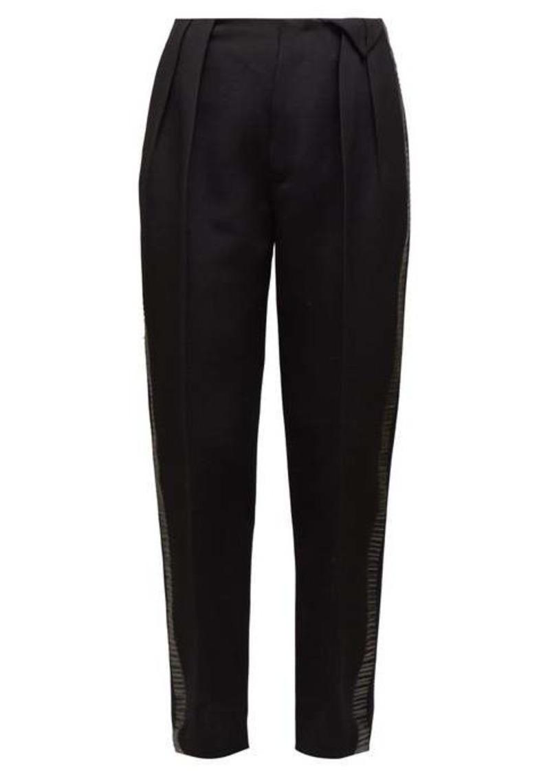Bottega Veneta High-rise wool twill trousers