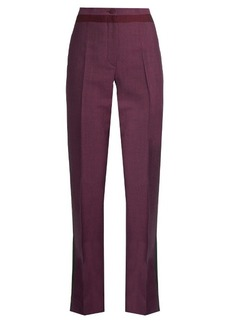 Bottega Veneta High-waisted straight-leg wool-blend trousers