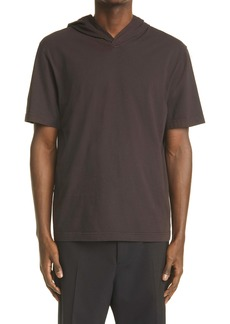 Bottega Veneta Hooded Jersey T-Shirt