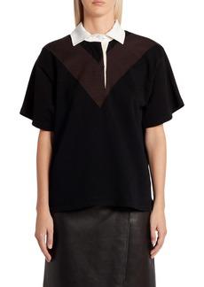Bottega Veneta Intarsia Rugby Stripe Cotton Shirt