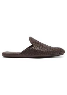 Bottega Veneta Intrecciato backless leather slipper shoes