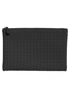 Bottega Veneta Intrecciato Large Leather Pouch