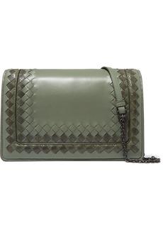 Bottega Veneta Intrecciato leather and snake shoulder bag