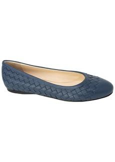 Bottega Veneta Intrecciato Leather Ballerina Flat