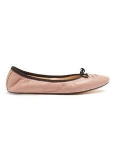 Bottega Veneta Intrecciato leather ballet flats