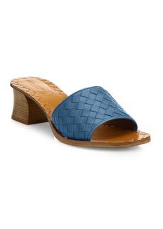 Bottega Veneta Intrecciato Leather Block Heel Mules