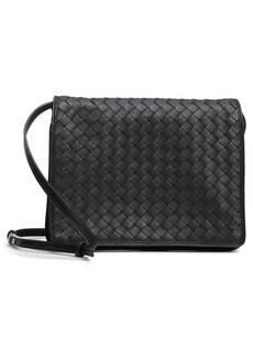 Bottega Veneta Intrecciato Leather Crossbody Flap Bag