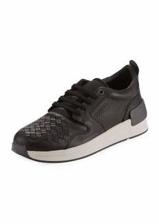 Bottega Veneta Men's Intrecciato Leather Low-Top Sneakers