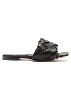 Bottega Veneta BV Lido Intrecciato leather slides